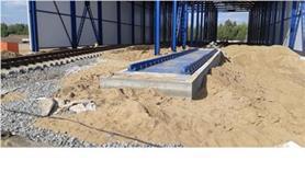Строительство участка погрузки и взвешивания вагонов