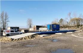 Автовесы ВАЛ на фундаменте из дорожных плит с бетонными  пандусами (Заказчик СК Орион плюс)