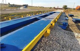 Монтаж автомобильных весов для большого грузопотока /18 метров, 100 тонн/