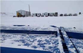 Автомобильные весы зимой, без ангара-не самое лучшее решение, но работают! (Автомобильные весы ВАЛ  80-18)