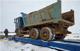 Танки грязи не боятся!!!Бесфундаментная установка и монтаж на дорожные плиты автомобильных весов ВАЛ  80-18
