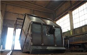 Металлоконструкция бункерных весов до пескоструйной обработки