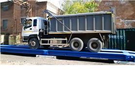 Автовесы ВАЛ-80-18 (до 80 тонн, ГПУ 18 м) установлены на дорожные плиты (бесфундаментное исполнение)