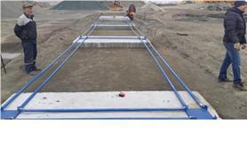 Монтаж автомобильных весов на дорожные плиты с металлическими въездными пандусами