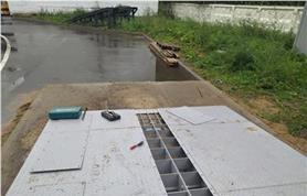 Монтаж въездного пандуса к весам ВАЛ  60-16 платформенного типа