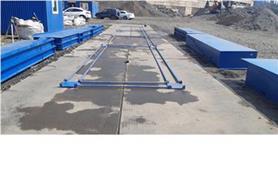 Установка автомобильных весов колейного типа ВАЛ-М- 80/40-18 на дорожные плиты