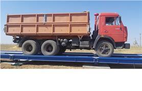 Взвешивание на автомобильных весах автомобилей с зерном (тип автовесов ВАЛ-М- 80/40-24)