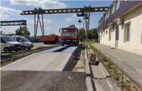 Автомобильные весы 80 тонн в работе (ВАЛ 80-18)
