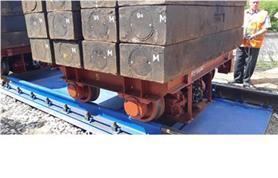 Вагонные весы БАМ до 150 тонн в процессе поверки