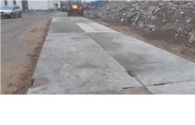 Основание из дорожных плит для установки автомобильных весов бесфундаментным способом