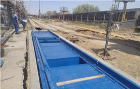 Ведутся монтажные работы на объекте ТРАНСОИЛ-Терминал. Устанавливаем вагонные весы БАМ-150-14,5 (до 150 тонн, 14,5 метров)