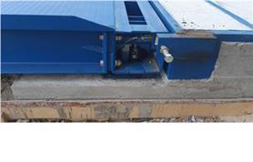Замена бокового ограничителя перемещения платформы методом электросварки (ремонтные работы на автомобильных весах)