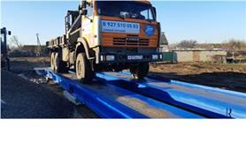 Взвешивание на автомобильных весах автомобиля КАМАЗ (весы ВАЛ до 60 тонн, длинна платформы 18 метров)