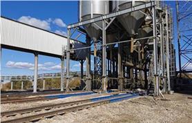 Участок загрузки вагонов зерном оснащен вагонными весами БАМ-150-16,5