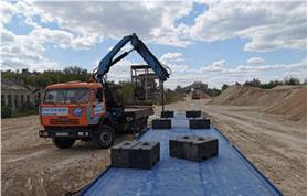 Автомобильные весы ВАЛ 80-24 на заводе по производству щебня (Калининский щебеночный завод)