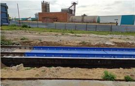 Весы для взвешивания железнодорожных вагонов БАМ на бетонном фундаменте
