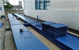 Монтаж межколейного центрального перекрытия 24-х метровых, 100 тонных автомобильных весов ВАЛ-100-24