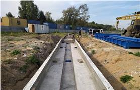Типовой ж.бетонный фундамент вагонных весов БАМ-14,5 метров