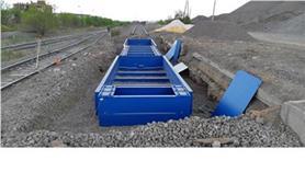 Установочная рама вагонных весов БАМ для бесфундаментной установки на щебневое основание