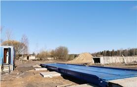 18 метровые, 80 тонные весы установлены на строящемся объекте (Заказчик СК Орион Плюс)