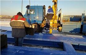 Ввод в эксплуатацию автомобильных весов ВАЛ-80-20 (до 80 тонн, 20 метров) в зимний период