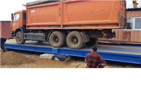 Взвешивание зерновоза КАМАЗ на автомобильных весах ВАЛ